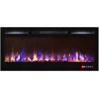 Bombay 36 Inch Crystal Recessed Touch Screen Multi-Color ...