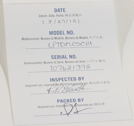 Traditional Mahogany Satin 2012 checklist