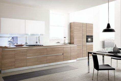 Cucina Moderna Joy Legno e Vetro dal Design Contemporaneo