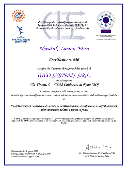 certificato_SA8000_2014_gicosystems Corporate