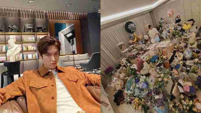 South Korean actor, Lee Min-Ho, shows off the gifts he received on his 34th birthday