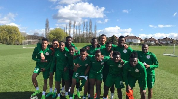 Photos of Super Eagles Training in London + WATCH the Newbies' Initiation into the National Team