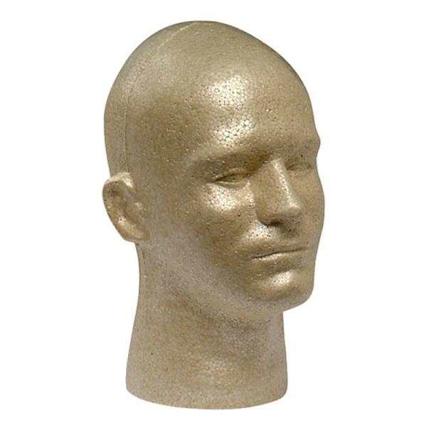 Eps Foam Male Mannequin Head Form Display - Tan