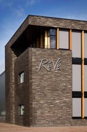 Gevel detail - Loodgietersbedrijf ReVe Lijnden - Nieuwbouw bedrijfsgebouw met werkplaats en kantoorruimte - Gietermans & Van Dijk Architecten - Serena Silooy Photography - Architectuurfotografie