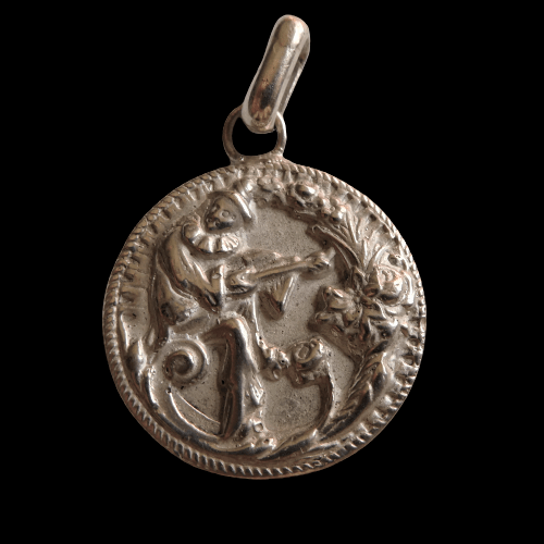 """P5 Médaille art-déco """"Aubade d'un Pierrot'"""