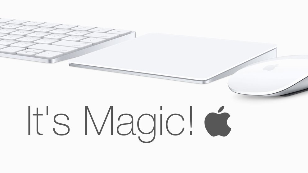 Apple Magic Keyboard, Apple Magic Trackpad 2 und Apple