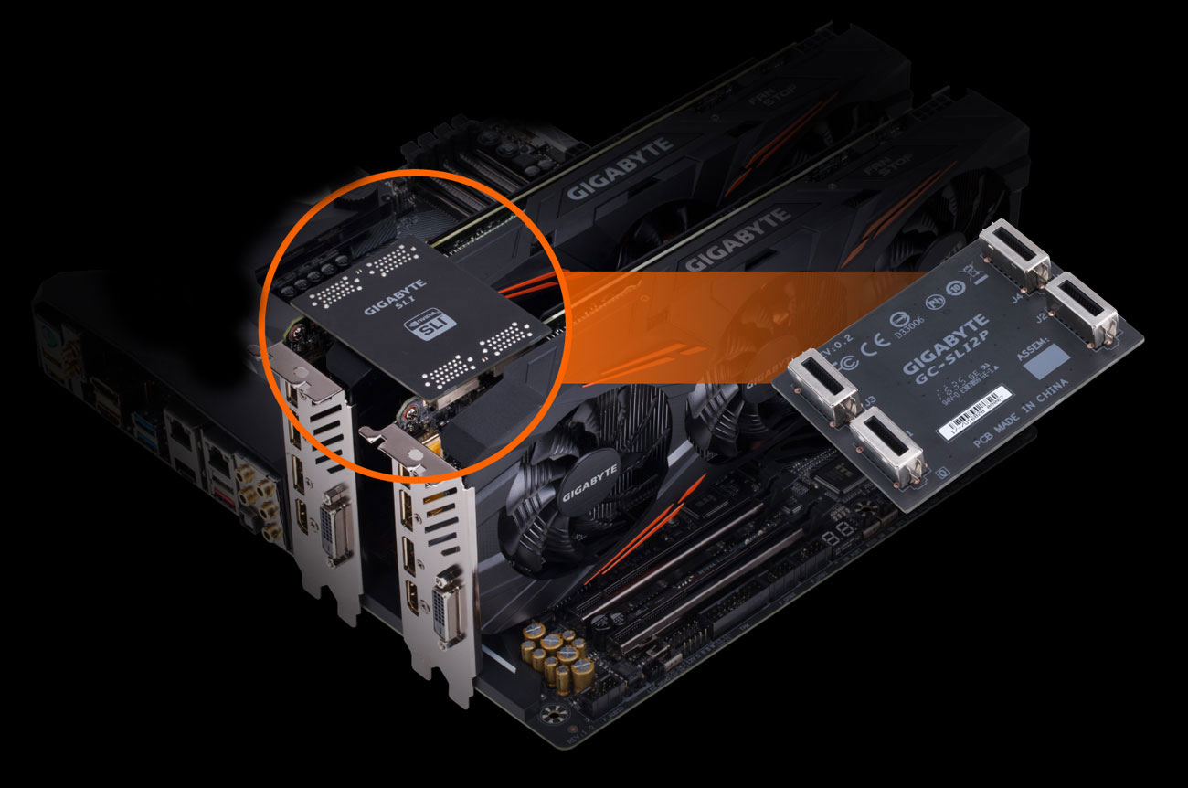 hight resolution of take your gaming performance to a whole new level by configuring multiple geforce gtx cards with a high bandwidth hb sli bridge