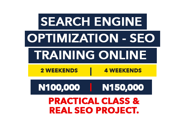 Search Engine Optimization SEO training Online in Lagos