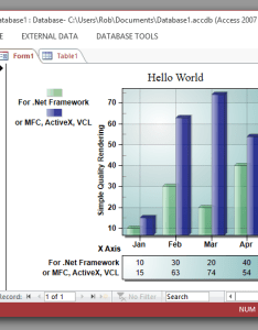 Ms access chart also charting activex example with vba to read table and sql rh gigasoft