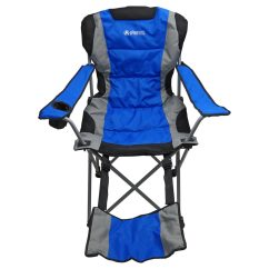 Bag Chair With Footrest Bar Height Table And Chairs Outdoor Camping Blue Gigatent