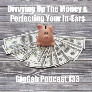 pig sitting on money with GigGab 133 title