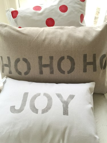Giggle hand-painted pillows