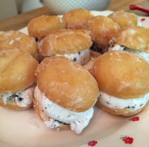 doughnut hole ice cream bites