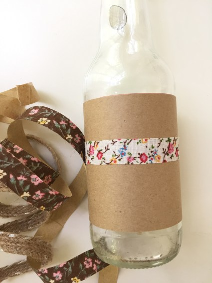 craft paper and fabric tape