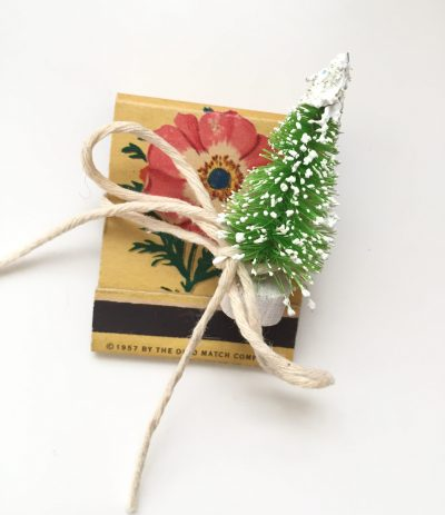 tiny tree on vintage matchbook