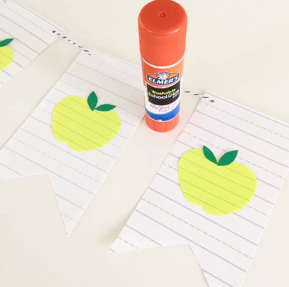 back to school DIY banner