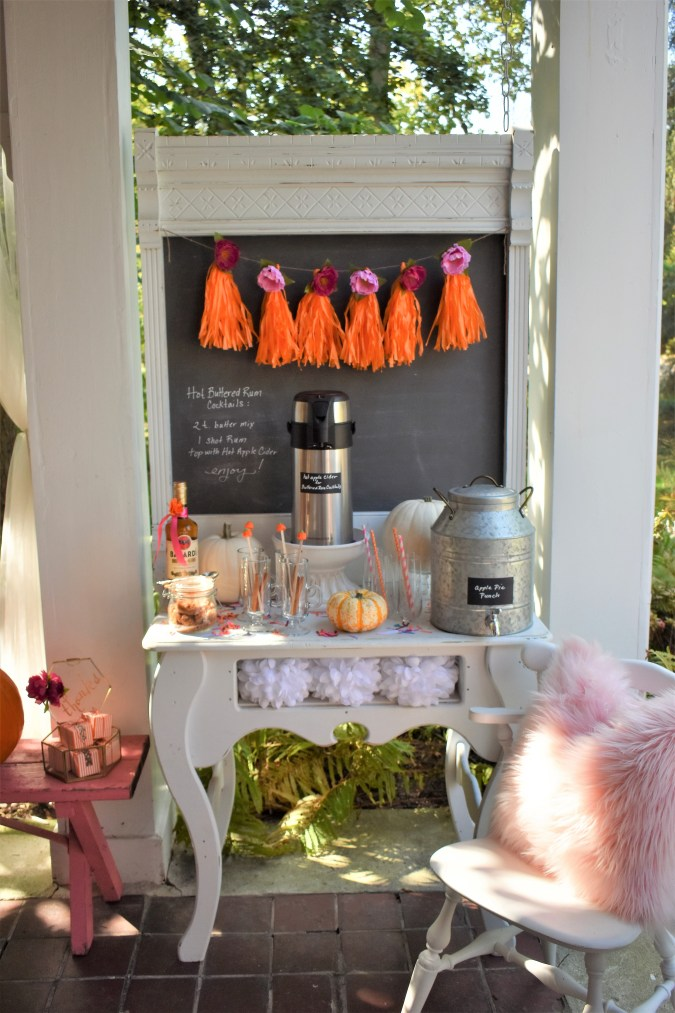 pumpkin decorating Boho party