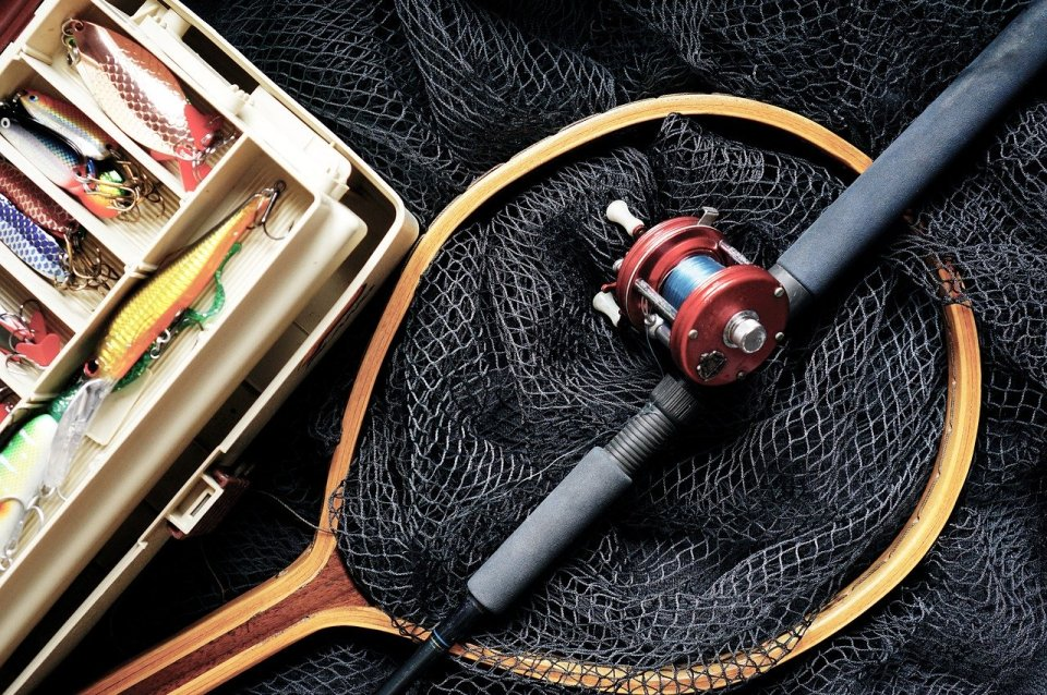 fishing, fishing rod, fishing lures