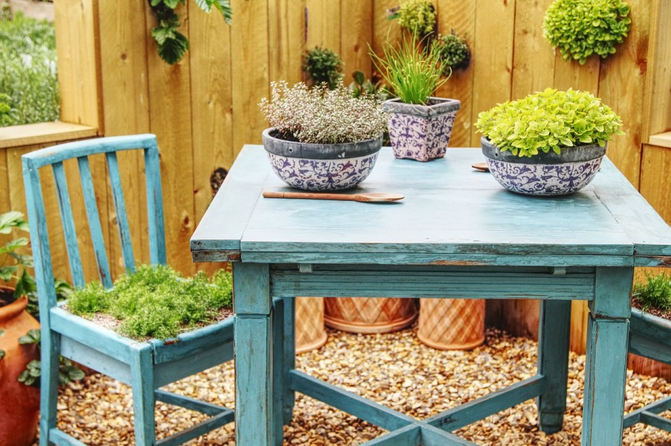 table, chair, garden