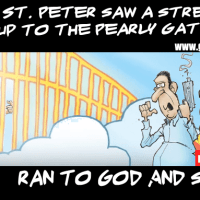as he saw the street gang approaching towards him , he ran away...