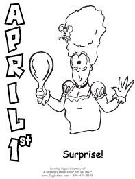 April Fools Day Coloring Pages: Giggletimetoys.com