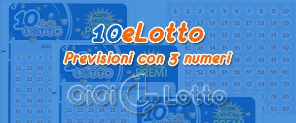 Previsioni 10eLotto del 24-09-2020