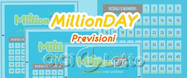 Previsioni Millionday del 03-08-2020