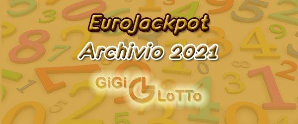 Archivio Eurojackpot 2021