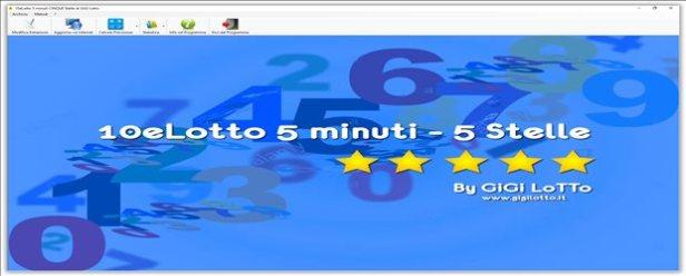 Software 10eLotto 5 minuti CINQUE Stelle