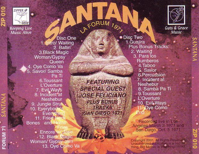 Santana  La Forum 1971  2CD  GiGinJapan