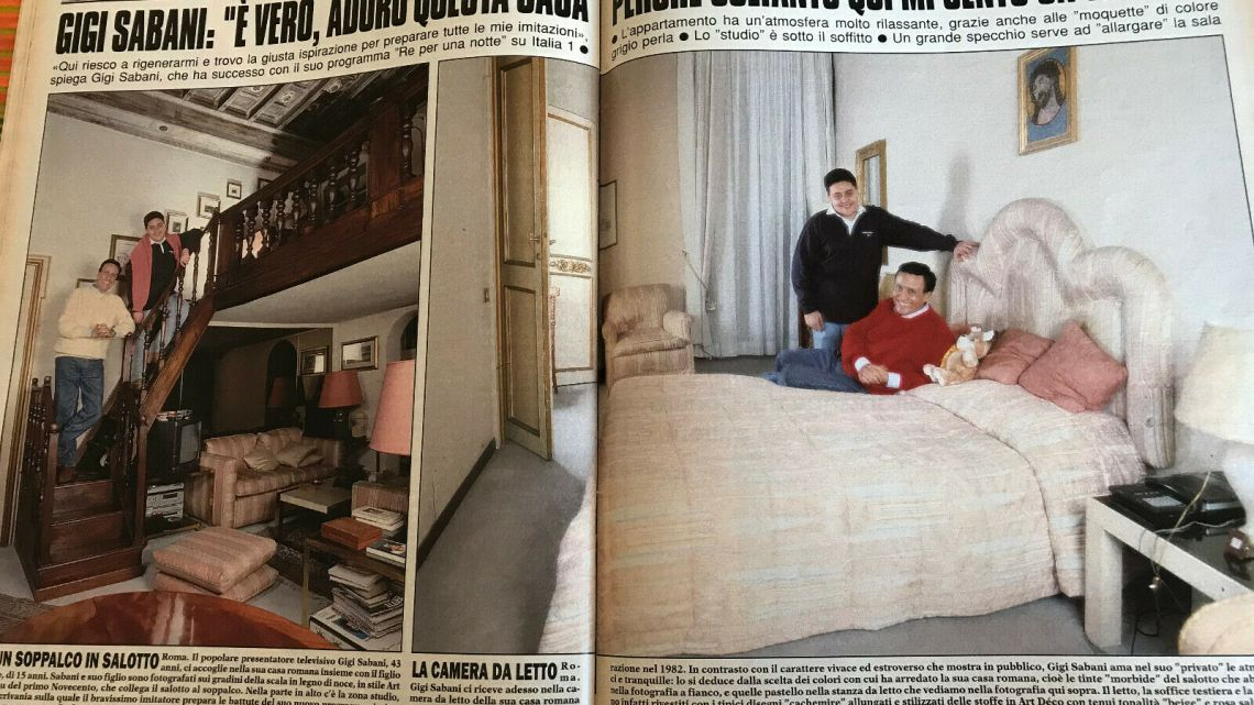 "Gente – 1993 – Gigi Sabani: ""Adoro questa casa perché qui mi sento un Re"""
