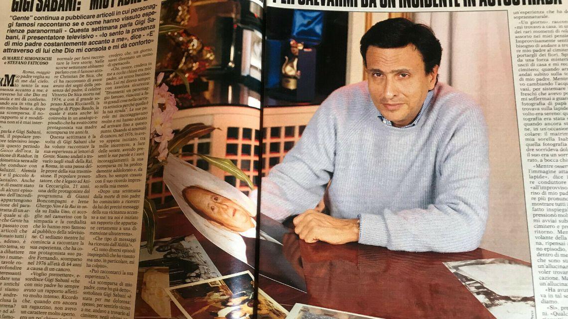 "Gente – 1994 – Gigi Sabani: Mio padre è tornato dall'Aldilà per salvarmi"""