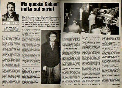 CLIPPING – 1981 – Ma questo Sabani imita sul serio!