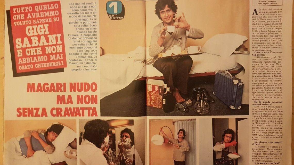 """CLIPPING – 1981 – """"Magari nudo, ma non senza cravatta"""""""