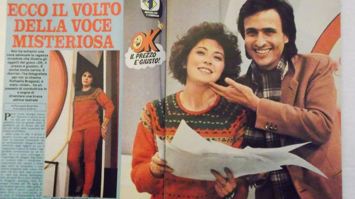 CLIPPING – 1984 – GIGI SABANI e RAFFAELLA BRAGAZZI a OK IL PREZZO E' GIUSTO