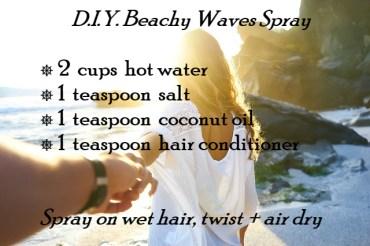 D.I.Y. Beachy Waves Spray