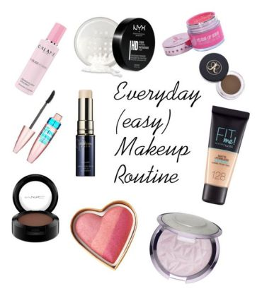makeup routine