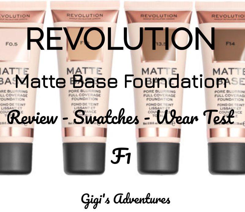 Revolution Matte Base Foundation F1