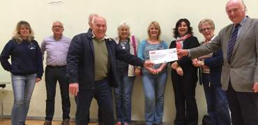 Mevagissey Donation to Activity Centre
