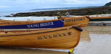 Gigs on beach at Falmouth regatta 2017