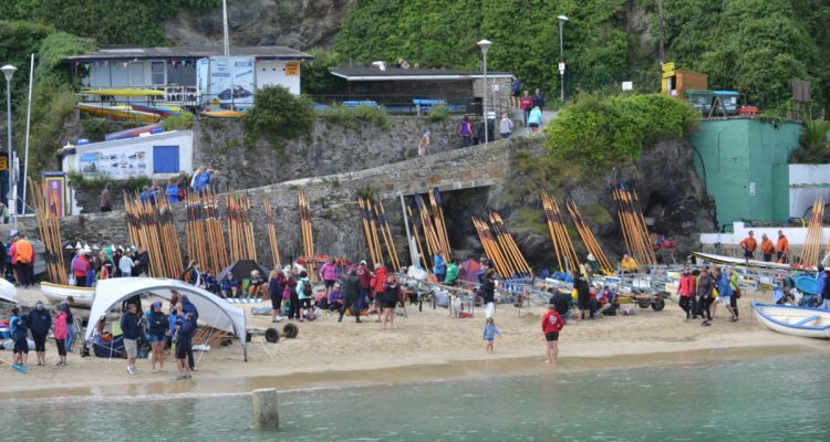 Newquay Gig Rowing Beach Scene