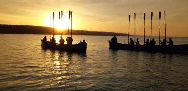 Dawn Breaks for Gig Club's Summer Solstice Row