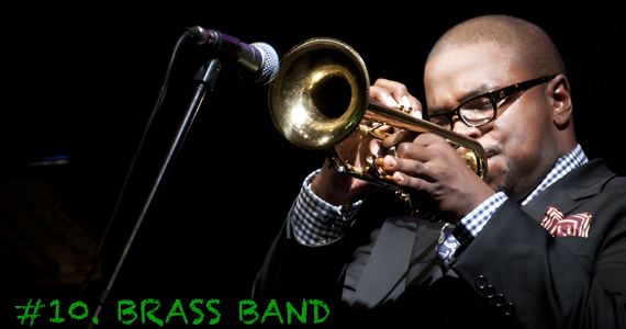 So many of the Christmas classics are performed on brass instruments. Brass bands are versatile and can keep your guests on their feet at a dance party or play beautiful songs to accompany a Christmas dinner party.