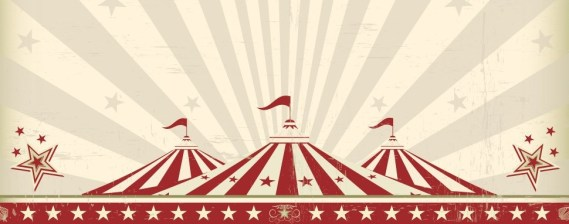 Vintage circus party background image