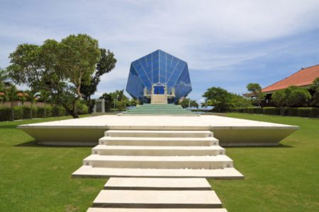 The Diamond Bali - wedding venue, an architectural construction in Indonesia on island Bali, town Sanur for carrying out of wedding ceremonies