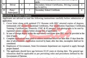 Government Jobs Establishment of Institute of Petroleum Technology Karak Latest Jobs 2021