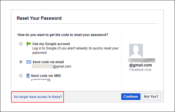 Traditional password recovery method