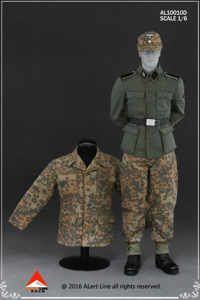 German Camo Uniform Set Oak Leaf Camo  16 Scale Axis Forces Uniform Sets  10010D