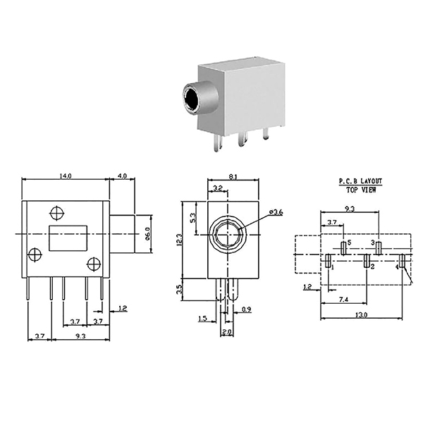 5 Pin 3.5Mm Female Jack Wiring Diagram / Diagram Female