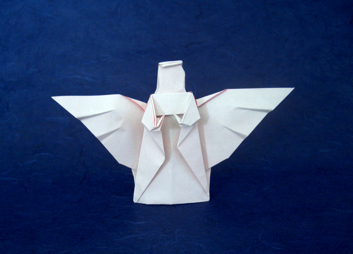 origami angel step by diagram car capacitor wiring audio angels page 1 of 2 gilad s john montroll folded aharoni